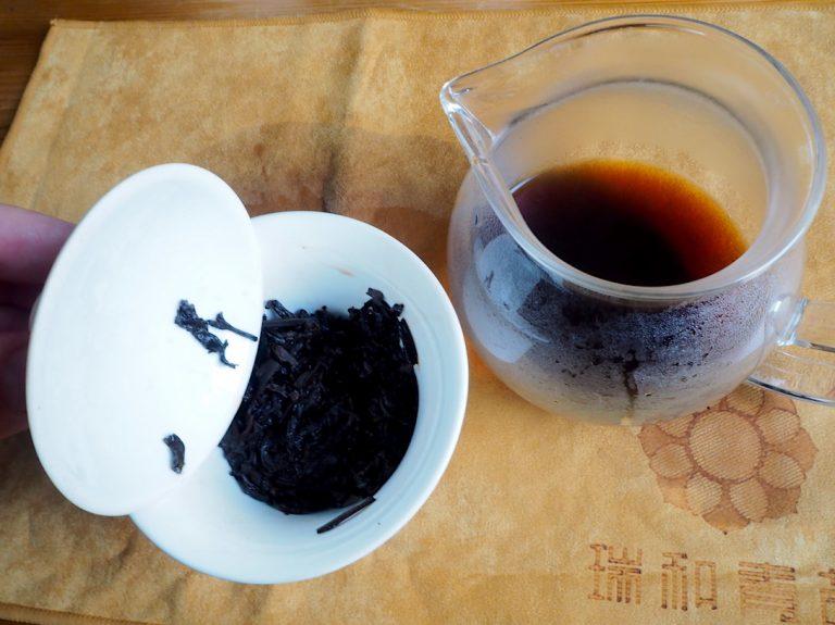 Tee im Gaiwan, Tee gebrüht